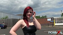 Thick Busty Redhead Public Pissing
