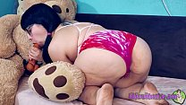 Play Time with Kiwwi - Teddy Bear Fuck! *Full version on Xvideos RED*