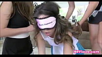 Teen Sorority Lesbians Have New Pledge Licking Pussy  - BFFlove.com