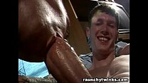 Hunky stud barebacks his friend
