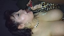 Rae Lynn sucking a BBC at the adult bookstore