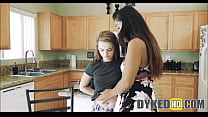 Two Teen Girl Roommates Fight Then Agree To Fuck
