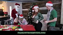 Crazy Teens Have A Christmas Family Orgy