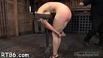 Pleasant cutie receives facial t. during bdsm play