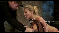 Blonde whore immobilized in kinky sex (Stop jerking off! Visit RealOne24.com)