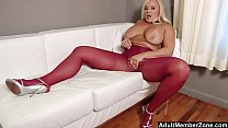 Mature Blonde Babe In Nylon And High Heels Fetish
