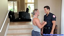 Muscle stud assfucked by hunky fireman
