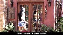 FamilyHookUps - Slutty Teen Secretly Fucks Stepdad