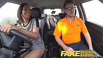 Fake Driving School Pretty black girl seduced by driving instructor
