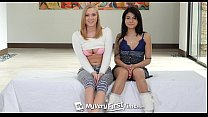 MyVeryFirstTime - Sadie and Bailey team up for their first group sex scene