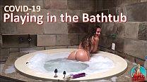 COVID-19 - jugando en la bañera - completo en ROJO