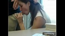 web cam couple in the public library