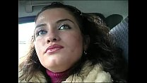 Upskirt brunette