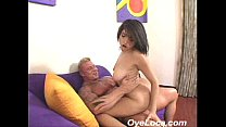 hot latin chica pumps up and down a hard cock