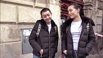 Pretty Polish Twins Share a Cock