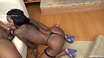 Hot ebony anal with facial cumshot explosion