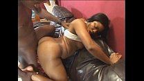 Ebony with a sexy rack gets her pussy pumped