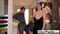 Busty Alison Tyler meets her Catfish then fucks his friend