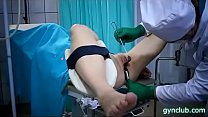 hard gynecological examination of a young patient(37)