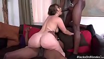 Sexy brunette pawg bred by two BBC's