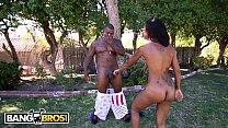 BANGBROS - Hot Ebony Babe Skin Diamond Taking BBC From Rico Strong