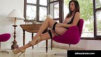 Gorgeous Jelena Jensen Does A HOT Vintage Pantyhose Show!