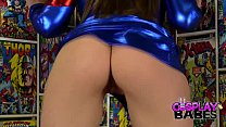 COSPLAY BABES Spider Woman Cums in Comic Store