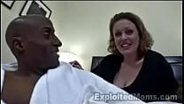 BBW MILF w Big Tits First Interracial Video