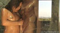 Beautiful Nuru Asian MILF Sex Outdoors