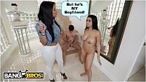 BANGBROS - Ada Sanchez Has Threesome With Her Boyfriend And Stepmom Diamond Kitty
