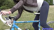 Mature british milf doggystyled by cyclist