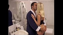 A rich couple fuck in their bathroom
