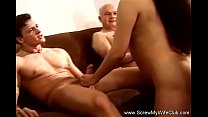 Threesome For Amateur Asian Wife Swinger