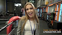 Stud trainer bangs hot reporter Alexis than his trainee Cherry