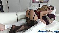Foot fetish slut riding