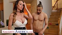 Naughty America - McKenzie Lee won't let her son's friend's big cock go unfucked