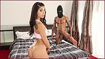 BANGBROS - Burglar With Big Black Cock Steals Gina Valentina's Pussy