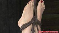 Tit bondage submissive gets punished