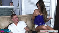 Brunette babe in blue top Cassidy Klein gets fucked
