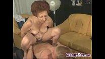 Horny Grandma And A Stud Having Sex