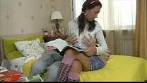 Russian Pigtails Sister Lets Bro Anal Her