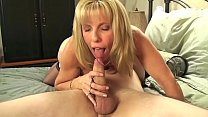 Mature Petite Blond Sucks & Fucks Her Young BoyToy