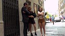 Spanish slut fucked in busy public shop