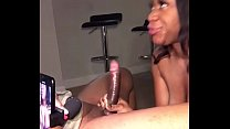 Deepthroat Queen Brownee swallows BBC