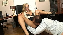 The young blonde secretary gets sodomized on the desk