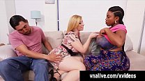 VNALive.com - Sara Jay Has 3Some With Ebony BBW Maserati!
