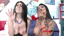 Kim XXX & Eloa Lombard in extreme orgy with double anal and ass fisting