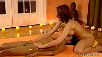 Brunette beauties Experiment With Sensual Massage
