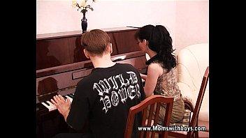 Mature Horny Piano Tutor Fucking Her Student