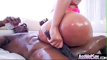 (Assh Lee) Slut Girl With Big Oiled Butt Get Hard Anal Sex movie-09